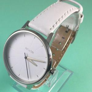 Nixon Movin' Out Kensington white leather watch